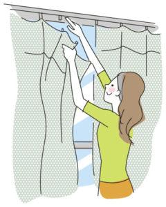 カーテンの掃除の仕方